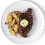Rippe-Auge Steak Stockbild