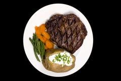 Rippe-Augen-Steak Stockbilder