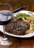 Rippe-Augen-Steak-Abendessen 4 Lizenzfreies Stockbild