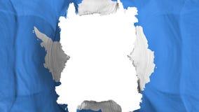 Ripped Antarctica flying flag. Over white background, 3d rendering stock illustration