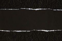 Ripped black Paper Royalty Free Stock Image