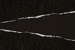 Ripped black Paper Stock Image