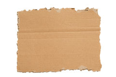 A Ripped Blank Piece of Cardboard XXXL Isolated Stock Image