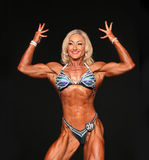 Ripped Blonde Bodybuilder Royalty Free Stock Images