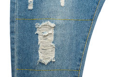 Ripped blue jeans Royalty Free Stock Photo