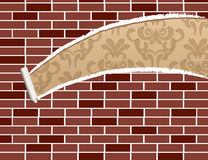 Ripped brick wall Stock Photography