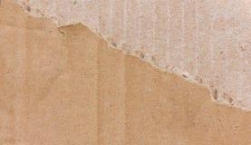 Ripped Brown Cardboard. Stock Image
