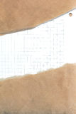 Ripped brown paper background Royalty Free Stock Photos