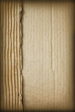 Ripped Cardboard. Ripped and wrinkled brown cardboard background stock photos