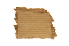 Ripped cardboard. Isolated on white background stock image