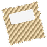 Ripped cardboard with tag Royalty Free Stock Images
