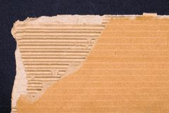 Ripped cardboard texture or background Royalty Free Stock Photo