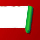 Ripped Christmas paper sheet Royalty Free Stock Photography
