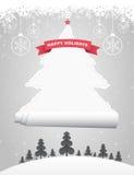 Ripped Christmas Tree royalty free illustration