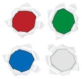 Ripped circle Stock Image