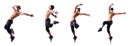 The ripped dancer isolated on the white Royalty Free Stock Photos