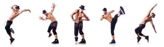 The ripped dancer isolated on the white Royalty Free Stock Image