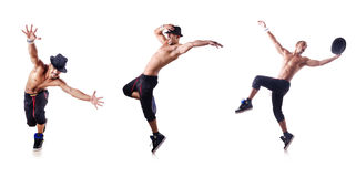 The ripped dancer isolated on the white Royalty Free Stock Photography