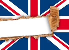 A ripped flag of united kingdom. Ripped flag of united kingdom state Stock Images