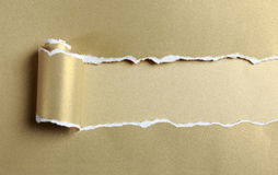 Ripped Gold Paper Royalty Free Stock Photo