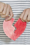 Ripped Heart Royalty Free Stock Photo