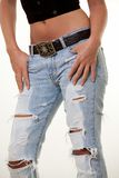 Ripped jeans Stock Photography