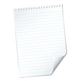 Ripped lined page Royalty Free Stock Image