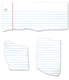 Ripped Looseleaf Paper Collection. Ripped looseleaf paper isolated on a white background royalty free illustration