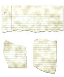 Ripped Looseleaf Paper Collection - Dirty Royalty Free Stock Image