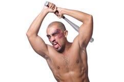 Ripped man with baseball bat Stock Photography