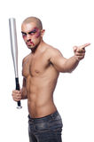 Ripped man with baseball bat Royalty Free Stock Photography