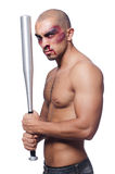 Ripped man with baseball bat Stock Image