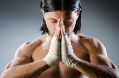Ripped martial arts. Expert at training Stock Photography