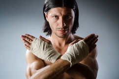 Ripped martial arts Royalty Free Stock Photography