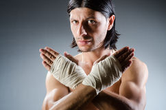 Ripped martial arts Stock Photography
