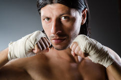 Ripped martial arts expert Stock Photo