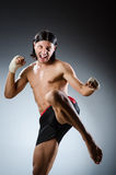 Ripped martial arts expert Stock Photography
