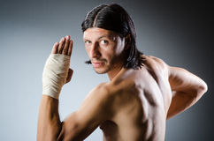 Ripped martial arts expert Royalty Free Stock Photo