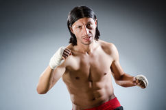 Ripped martial arts expert Royalty Free Stock Photography