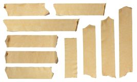 Ripped Masking Tape. Images of Ripped Masking Tape isolated on white Royalty Free Stock Photo
