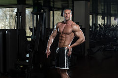 Ripped Mature Man In Modern Fitness Center Stock Photo