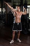 Ripped Mature Man In Modern Fitness Center Stock Images