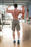 Ripped Mature Man In Modern Fitness Center royalty free stock photography