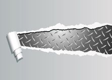 Ripped metal plate stock illustration