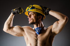 Ripped muscular builder man Royalty Free Stock Photo