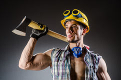Ripped muscular builder Royalty Free Stock Image