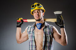 Ripped muscular builder Royalty Free Stock Photos