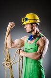 Ripped muscular builder Stock Photo