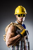 Ripped muscular builder man Royalty Free Stock Images