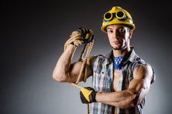 Ripped muscular builder man Stock Photography
